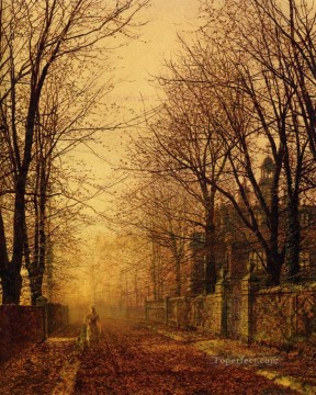 A Golden Beam city scenes John Atkinson Grimshaw Oil Paintings