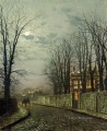 A Wintry Moon city scenes John Atkinson Grimshaw