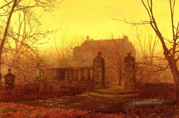 Autumn Morning city scenes John Atkinson Grimshaw Oil Paintings