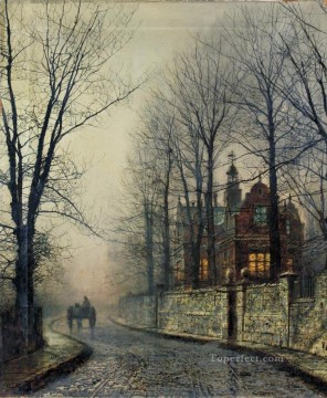 november Deco Art - November Moonlight city scenes John Atkinson Grimshaw