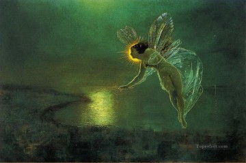 Spirit of the Night angel John Atkinson Grimshaw Oil Paintings