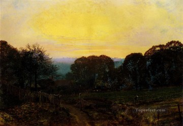Twilight The Vegetable Garden city scenes John Atkinson Grimshaw Oil Paintings