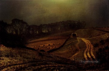 autumn or the grape harvest Painting - Under The Harvest Moon city scenes John Atkinson Grimshaw