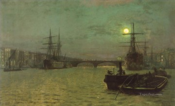 London Art - London BridgeHalf Tide city scenes John Atkinson Grimshaw