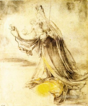 Matthias Grunewald Painting - Mary with the Sun below her Feet Renaissance Matthias Grunewald