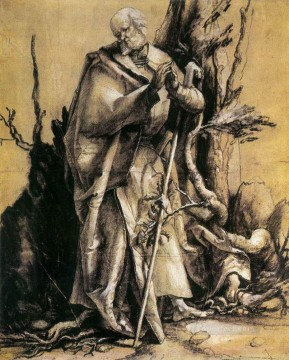 Grunewald Canvas - St John in the Forest Renaissance Matthias Grunewald