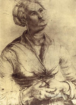 Grunewald Canvas - Woman Looking Up Renaissance Matthias Grunewald