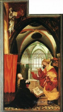 Grunewald Canvas - The Annunciation Renaissance Matthias Grunewald