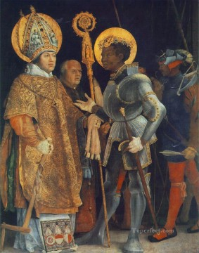 renaissance Painting - Meeting of St Erasm and St Maurice Renaissance Matthias Grunewald