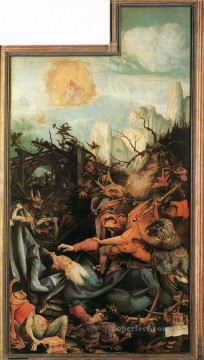 Grunewald Canvas - The Temptation of St Antony Renaissance Matthias Grunewald