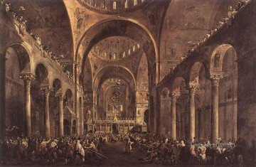 Francesco Guardi Painting - Doge Alvise IV Mocenigo Venetian School Francesco Guardi