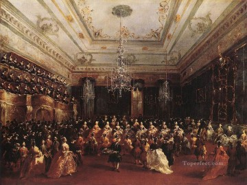 Francesco Guardi Painting - Ladies Concert at the Philharmonic Hall Venetian School Francesco Guardi