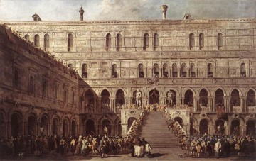 Francesco Guardi Painting - The Coronation of The Doge Venetian School Francesco Guardi