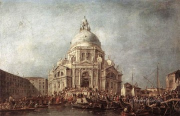 Francesco Guardi Painting - The Doge at the Basilica of La Salute Venetian School Francesco Guardi