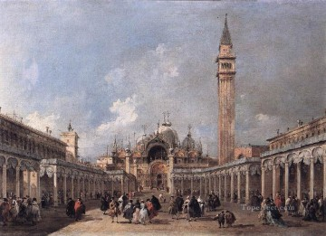 Francesco Guardi Painting - The Feast of the Ascension Venetian School Francesco Guardi
