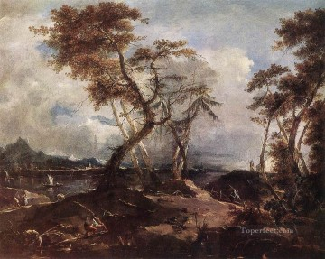 Francesco Guardi Painting - Landscape Venetian School Francesco Guardi