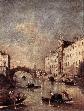 Francesco Canvas - Rio dei Mendicanti Venetian School Francesco Guardi
