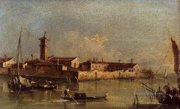 Francesco Guardi Painting - View Of The Island Of San Michele Near Murano Venice Venetian School Francesco Guardi