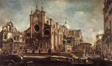Francesco Guardi Painting - Campo Santi Giovanni e Paolo Venetian School Francesco Guardi