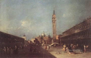 Francesco Guardi Painting - Piazza San Marco Venetian School Francesco Guardi