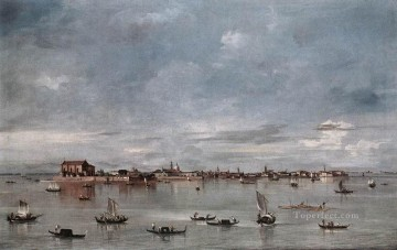 Francesco Guardi Painting - San Cristoforo San Michele and Murano Seen from the Fondamenta Nuove Venetian School Francesco Guardi