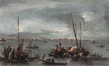 Francesco Guardi Painting - The Lagoon Looking toward Murano from the Fondamenta Nuove Venetian School Francesco Guardi