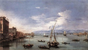 Francesco Guardi Painting - The Lagoon from the Fondamenta Nuove Venetian School Francesco Guardi