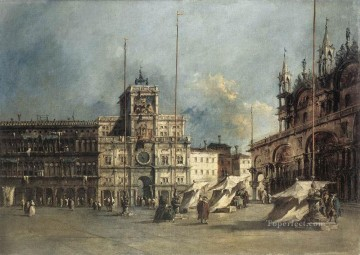 Francesco Guardi Painting - The Torre del Orologio Venetian School Francesco Guardi
