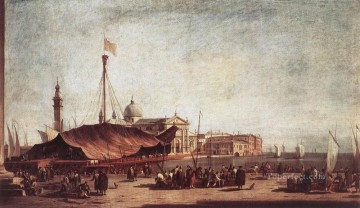 Francesco Guardi Painting - The Piazzetta Looking toward San Giorgio Maggiore Venetian School Francesco Guardi