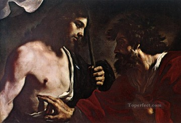 Doubting Thomas Baroque Guercino Oil Paintings