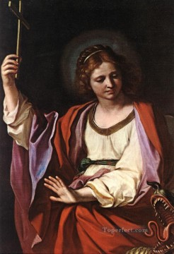 St Marguerite Baroque Guercino Oil Paintings