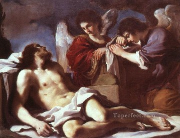 Guercino Works - Angels Weeping over the Dead Christ Baroque Guercino