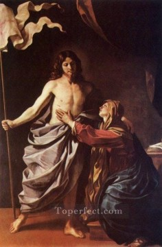 Virgin Painting - Apparition of Christ to the Virgin Baroque Guercino