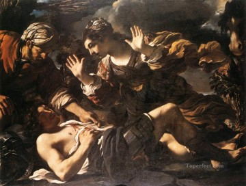Ermina Finds the Wounded Tancred Baroque Guercino Oil Paintings