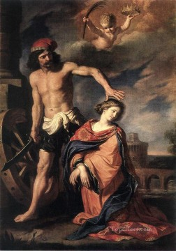 Martyrdom of St Catherine Baroque Guercino Oil Paintings