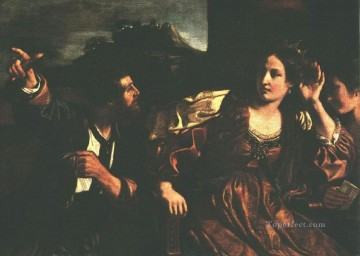 Semiramis Receiving Word of the Revolt of Babylon Baroque Guercino Oil Paintings