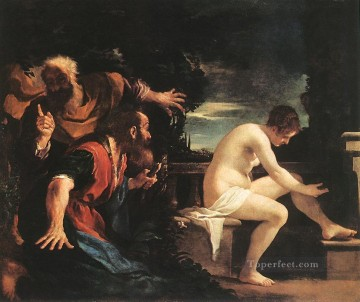 Susanna and the Elders Baroque Guercino Oil Paintings