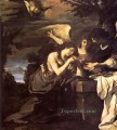 Magdalen and Two Angels Baroque Guercino