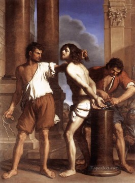 The Flagellation of Christ Baroque Guercino Oil Paintings