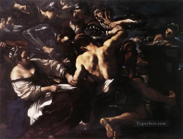 Guercino Works - Samson Captured by the Philistines Baroque Guercino