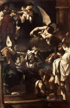 Guercino Painting - St William of Aquitaine Receiving the Cowl Baroque Guercino