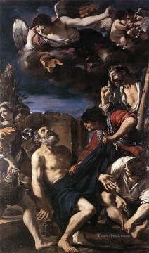 The Martyrdom of St Peter Baroque Guercino Oil Paintings