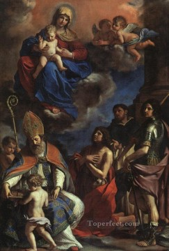 Guercino Painting - The Patron Saints of Modena Baroque Guercino
