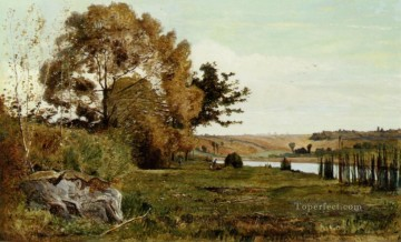 Morning Painting - An Autumn Morning scenery Paul Camille Guigou