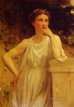 Guillaume Seignac Painting - A Wistful Moment Guillaume Seignac