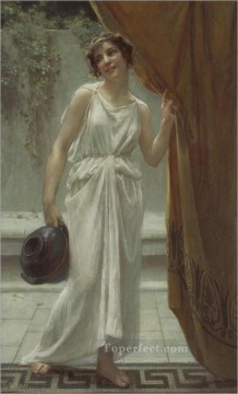 fountain Painting - At the Fountain Guillaume Seignac