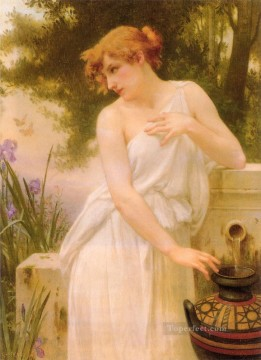 Guillaume Seignac Painting - Beauty At The Well Academic Guillaume Seignac
