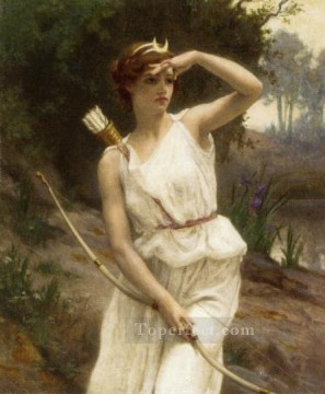 Guillaume Seignac Painting - Diana hunting Academic Guillaume Seignac