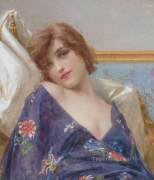 Guillaume Seignac Painting - Indolence Guillaume Seignac
