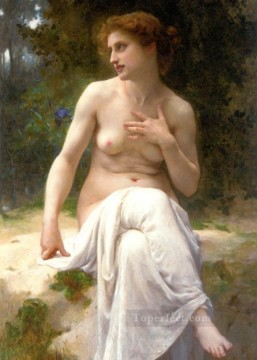 Guillaume Seignac Painting - Nymphe Academic nude Guillaume Seignac